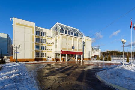 BALASHIKHA, RUSSIA - FEBRUARY 17, 2016. School building in the city of Balashikha, Moscow region. Russia.
