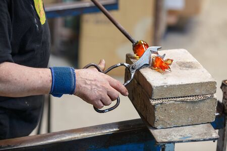 The art and craft of glass blowing.