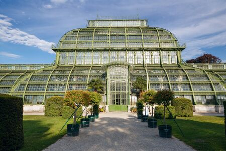 The Palmenhaus Schoenbrunn - a large greenhouse, opened in 1882 in the park Schoenbrunn in Vienna, Austria