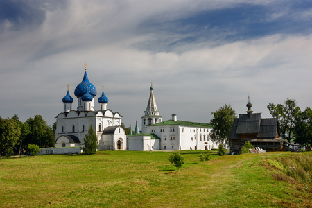 Churches of the ancient Suzdal Kremlin. Suzdal, Golden Ring of Russia Editorial