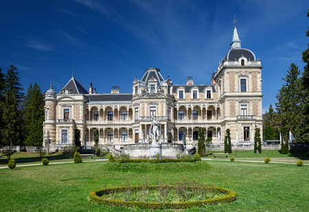 VIENNA, AUSTRIA - MARCH 31, 2017. Palace Hermesvilla (built in 1882 - 1886) in the Lainzer Tiergarten, in Vienna, Austria. Today it is a museum housing memorabilia of the empress Elisabeth.