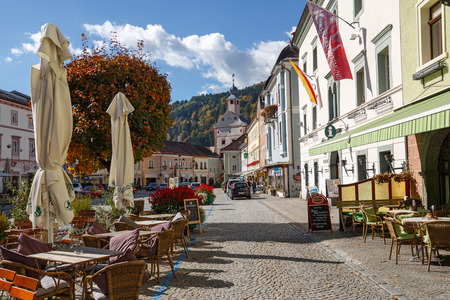 GMUEND IN KAERNTEN, AUSTRIA - OCTOBER 10, 2017. Gmuend in Kaernten, a historic town in the district of Spittal an der Drau, in the Austrian state of Carinthia. Editorial