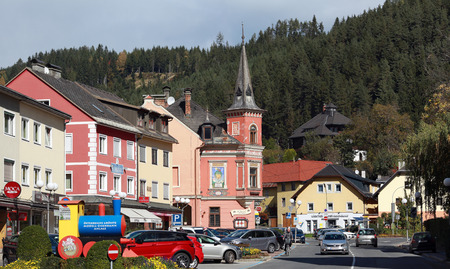 SPITTAL AN DER DRAU  AUSTRIA - OCTOBER 8, 2017. Town of Spittal an der Drau, located on the southern slopes of the Gurktal Alps (Nock Mountains) in the federal state of Carinthia, Austria. Editorial