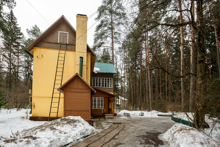 House-museum of the famous Soviet childrens writer Korney Chukovsky in the writers village of Peredelkino. Moscow region, Russia.