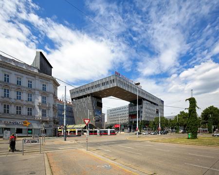 VIENNA, AUSTRIA - JULY 17, 2017. The fully renovated Wien Westbahnhof railway station. Vienna, Austria Europe
