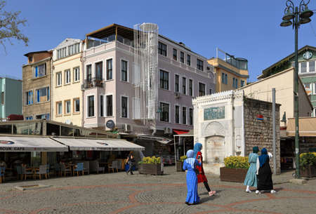 ISTANBUL, TURKEY - OCTOBER 06, 2020. Ortakoy Square. Besiktas district, city of Istanbul in Turkey.