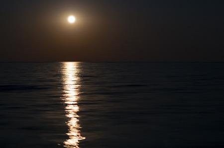 moonlight reflected on the sea, full moon