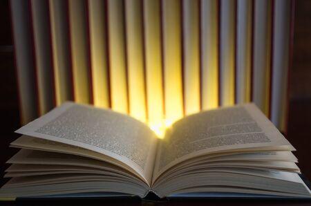 open book light in the dark