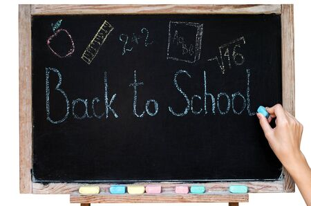 write on the blackboard back to school 免版税图像