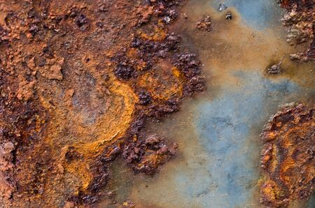 rust on a metal sheet, background texture