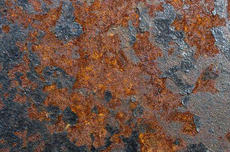 rust on a metal sheet, background texture 免版税图像 - 134387694