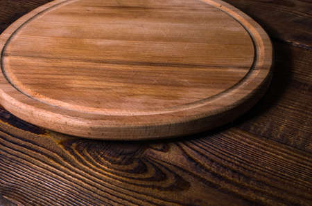 cutting board made of wood, round. Rustic style