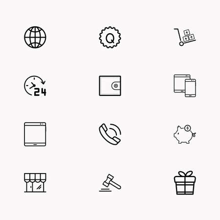 E-commerce line icon set.  You can use web app and other.