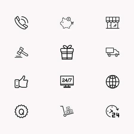 E-commerce line icon set images