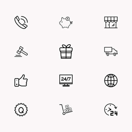 E-commerce line icon set images