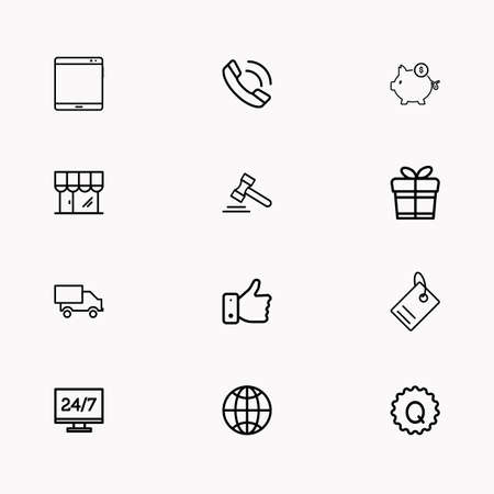 E-commerce line icon set, you can use as web app and other.