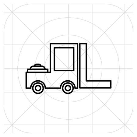 Icono de vector de carro de entrega de carretilla elevadora. Guía de iconos Foto de archivo - 97933663
