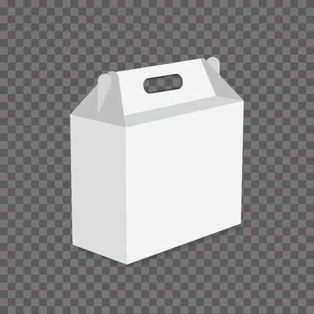 White Cardboard Lunch Box vector