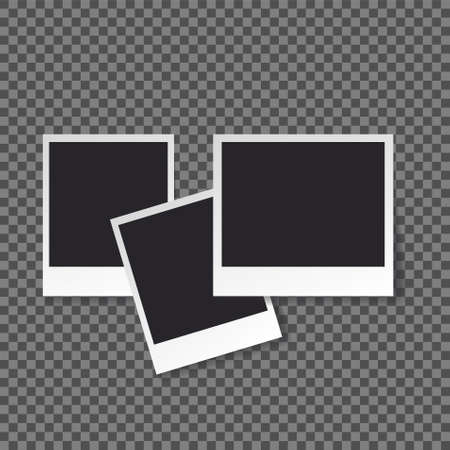 Squares frame template with shadows isolated vector set collection.