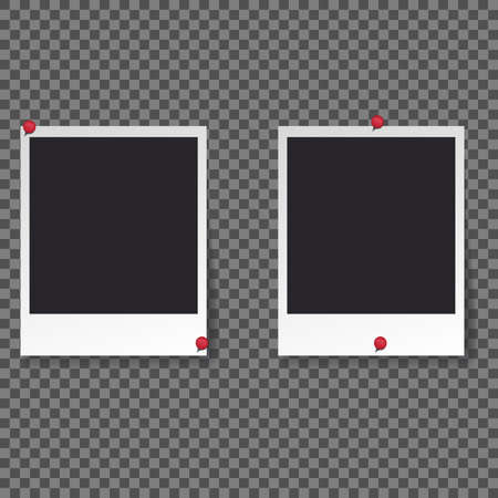 Squares frame template with shadows isolated vector set collection. Stock Vector - 123026616