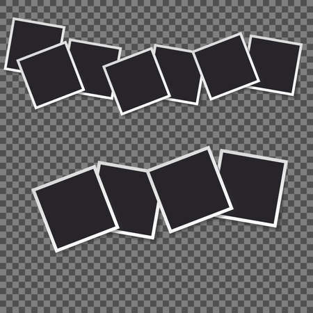 Squares frame template with shadows isolated vector set collection. Stock Vector - 123026637