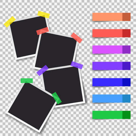 Squares frame template with shadows isolated vector set collection. Stock Vector - 123026696