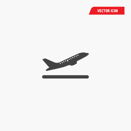 airport departures boarding gate icon, aircraft, airlines, take off, vector eps10 Vectores