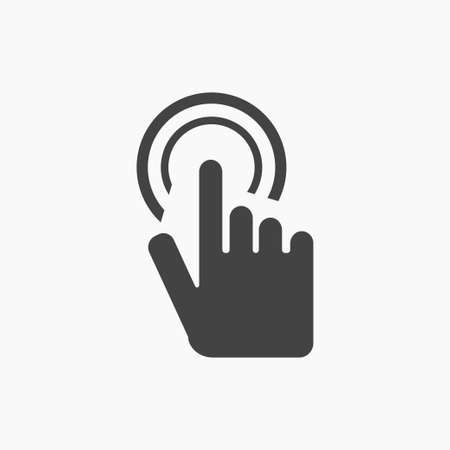 finger touch screen Icon Vector on white grey font. Illustration