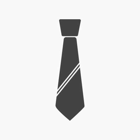 Tie Icon in trendy flat style isolated on grey background. Necktie symbol for your web site design, logo, app, UI. Vector illustration. 矢量图像
