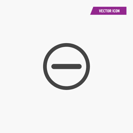 Minuse icon illustration isolated vector sign symbol