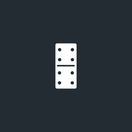 Dominoes dice line icon on black font. Four to four, linear style sign for mobile concept and web design. Domino game outline vector icon. Vector