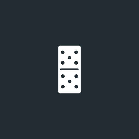 Dominoes dice line icon on black font. five to five, linear style sign for mobile concept and web design. Domino game outline vector icon. Vector Illustration
