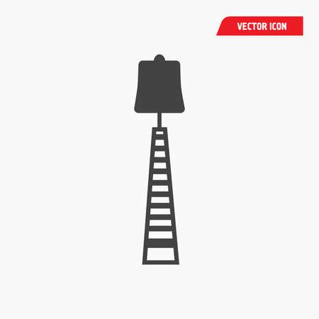 black standing night lamp icon
