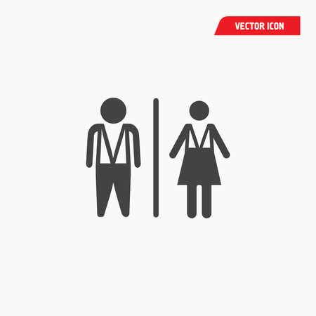 airport man woman wc icon, black white Çizim