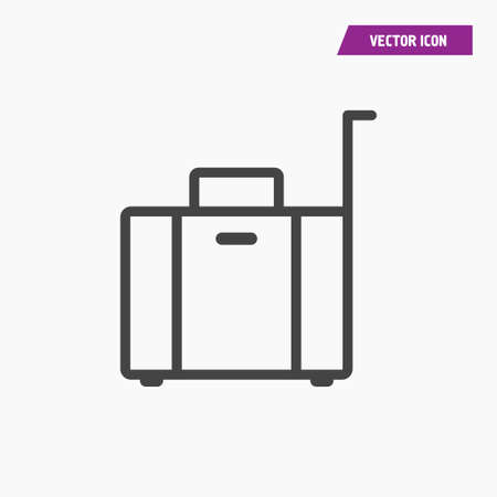 Line Briefcase, Luggage Icon. Vector on white background.