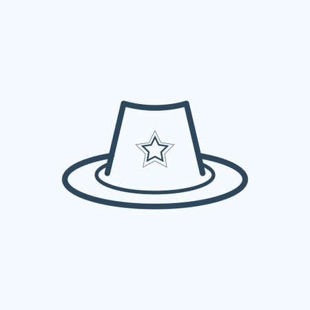 Sheriff hat icon. Ilustración de vector