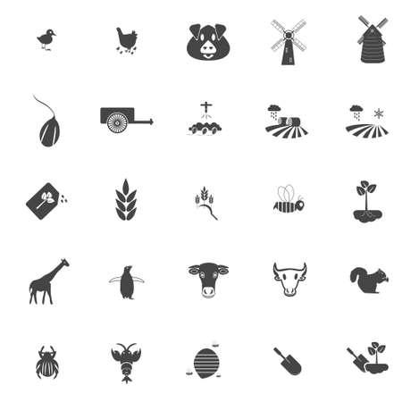 Agriculture Icon Set Standard-Bild - 124029579