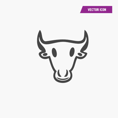 Cow head illustration vector