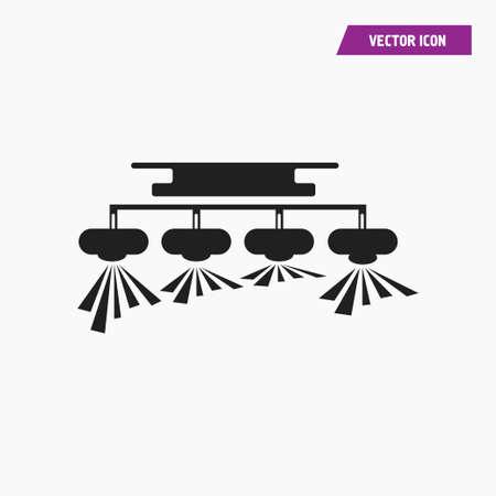 Black ceiling chandelier, pendant  lamp icon. Vector.