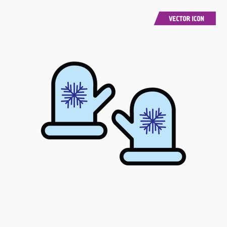 mitten glove pair potholder simple icon