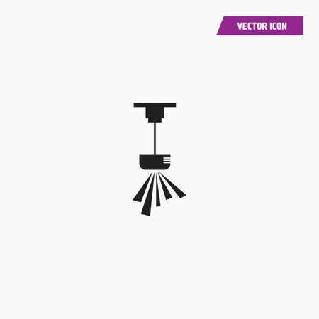 Black chandelier, ceiling lamp, pendant icon. Vector on white background. Illustration