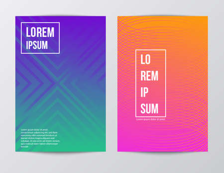 Visual identity with letter logo elements. Letterhead and color pattern design style brochure cover template mockups for business with Fictitious name - Vector