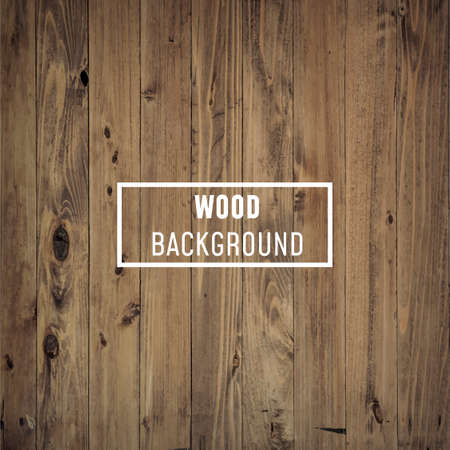 Holz, Holzhintergrund oder Textur mit weißem Brett für Text darauf - Vector, Image Vektorgrafik