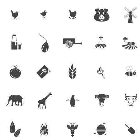 Agriculture Icon Set Standard-Bild - 125605563