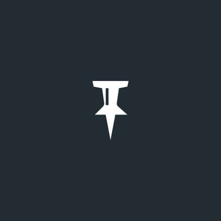pin icon vector, solid logo illustration, pictogram