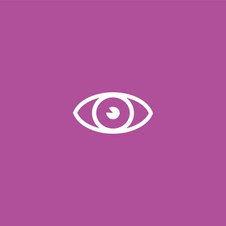 Eye icon illustration isolated vector sign symbol