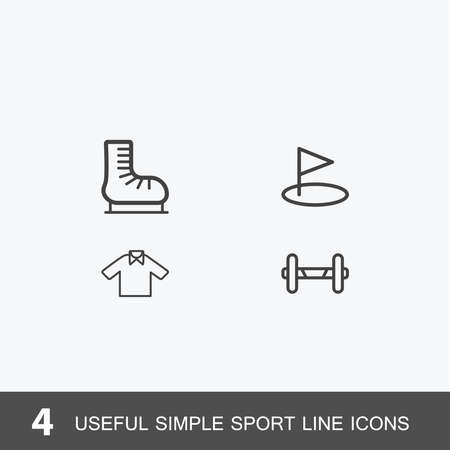 4 useful simple sport icons. Include