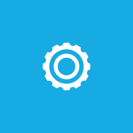 cogwheel icon illustration isolated vector sign symbol Illustration