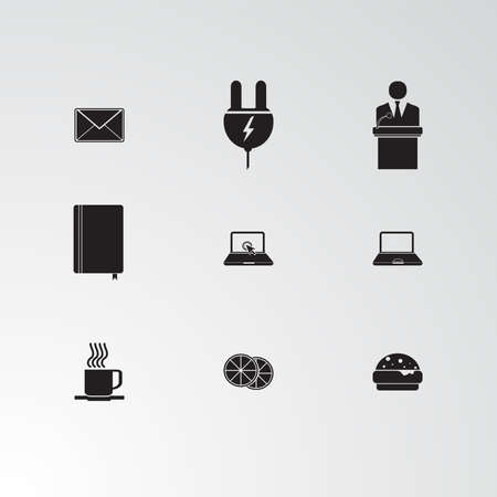 Set of 9 perfect miscellaneous icons. Vector illustration.