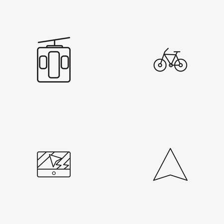4 useful simple transport icons